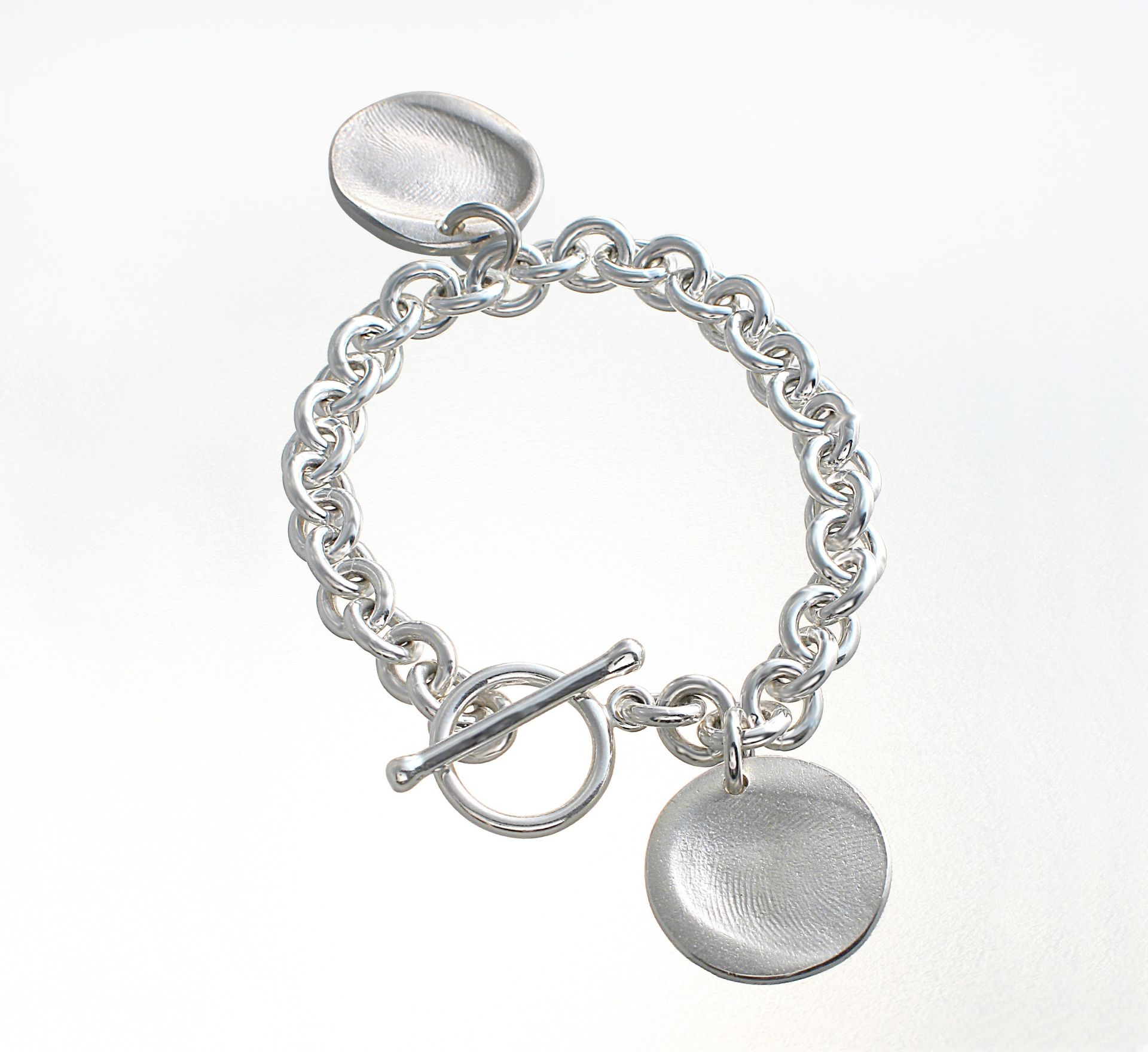 toggle bracelet with two charms co jewellery